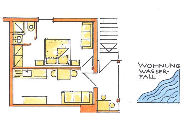 ferienwohnungen wasserfall appartements krahbichlhof urlaub auf dem bauernhof in ahrntal. Black Bedroom Furniture Sets. Home Design Ideas